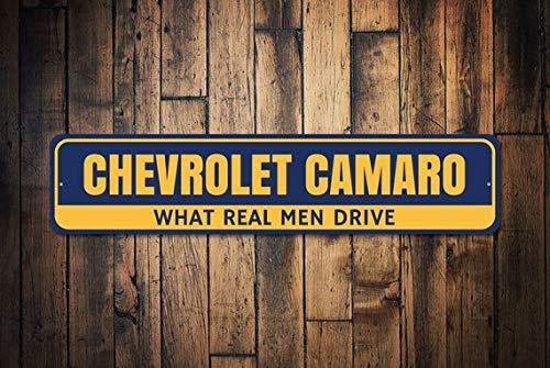 HSSS Chevy Decor Chevy Camaro Schild Camaro Geschenk Chevy Owner Geschenk Camaro Sammler Geschenk Metall Chevy Schild Blechschild 10,2 x 45,7 cm