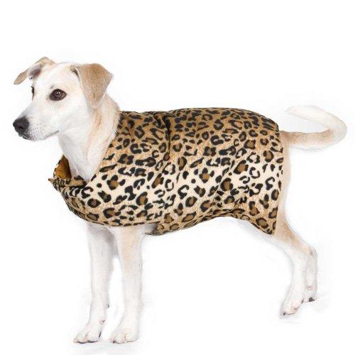 Original Goose Down Dog Coat Leopard XL, My Pet Supplies