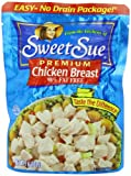 SWEET SUE Chicken Breast, High Protein Food, Keto Food and Snacks, Gluten Free Food, High Protein Snacks, Bulk Canned Food, 7 Ounce Pouches (Pack of 12) For Sale