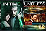 Limitless (Unrated) & In Time [DVD] 2 Pack Sci-Fi Mystery Action Movie Set