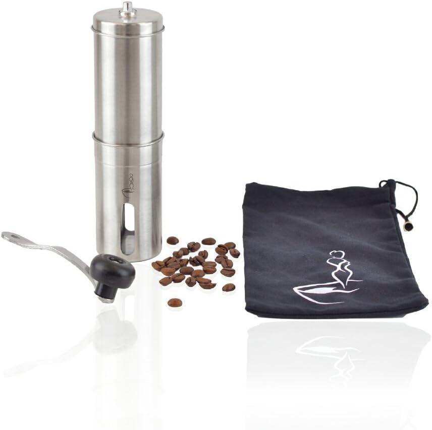 Kaffeemühle Edelstahl Keramikmahlwerk Hand Kaffee Espresso Mühle Handmühle