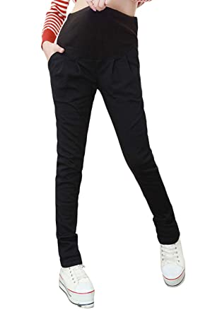 e95b8a0d5e3f3 Image Unavailable. Image not available for. Color: Maternity Skinny Kaki Pants  Work Casual Over Belly Slim Trousers Pregnant Women