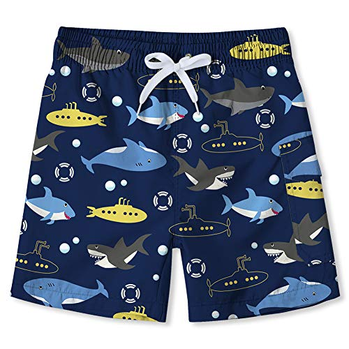 820463d8ed Enlifety Kids Girls Boy's Mesh Shorts Quick Dry Adjustable Waist Swimwear  Bathing Suits for Holiday Beach 8-10 Years
