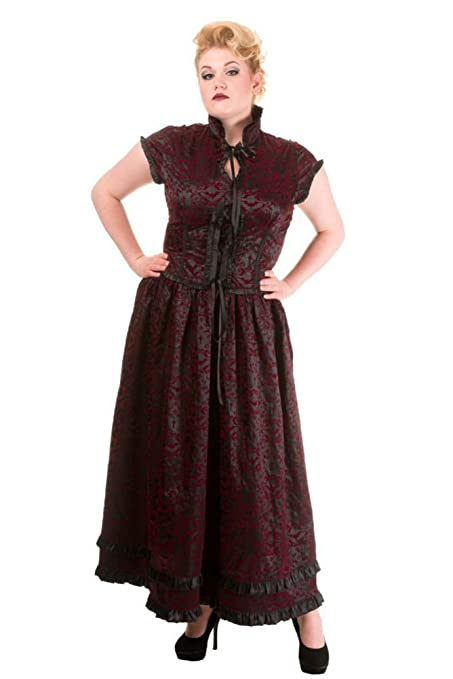 Steampunk Dresses and Costumes Victorian Steampunk Ivy Pattern Long Dress $79.99 AT vintagedancer.com
