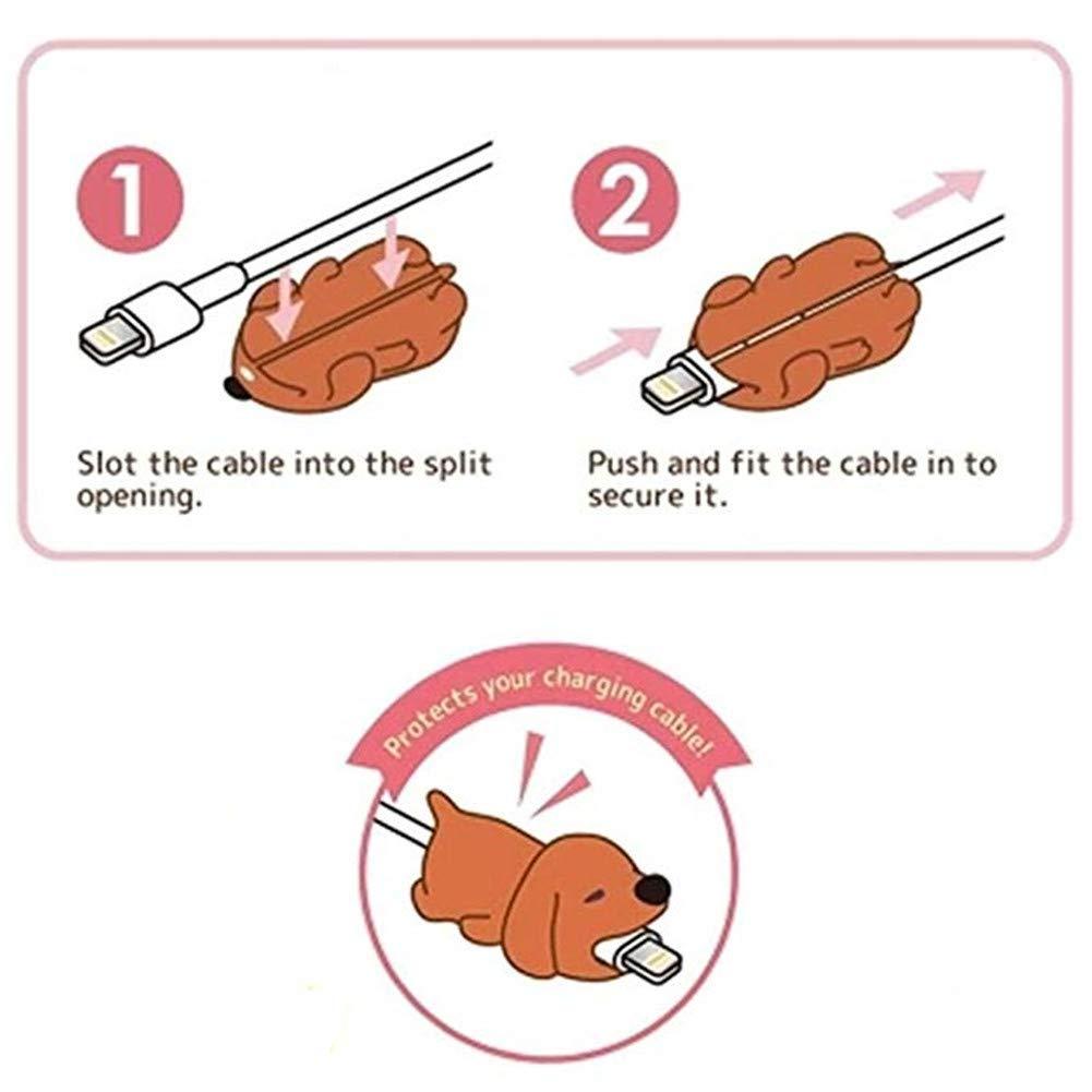 Ardilla Protege el Cable y Evita roturas Cosanter Protector de Cable Dise/ño de Animales para iPhone