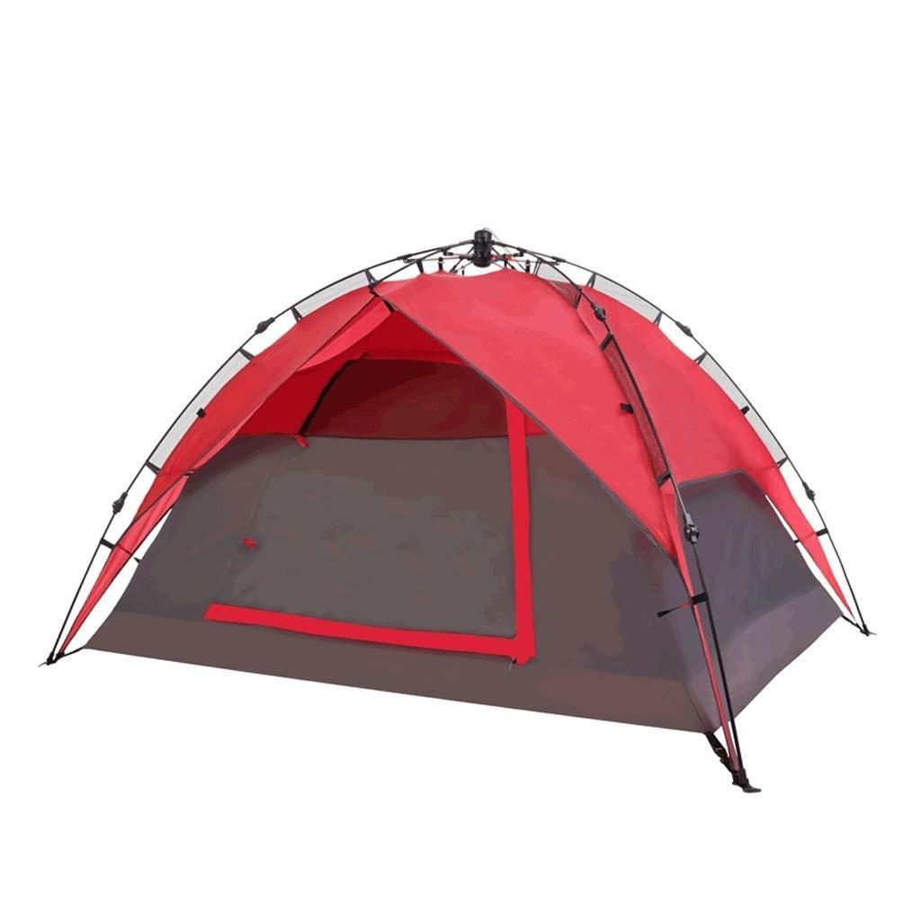 屋外キャンプテント3-4人自動超軽量ポータブル折りたたみ日焼け止め防水家族の友達釣りツアービーチピクニックパーク芝生   B07QVPP5JT