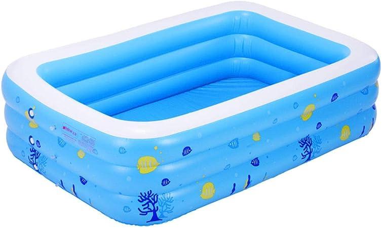 HEROTIGH Piscinas Hinchables Espesar Familia Inflable Grande Piscina De Tres Anillos para Niños 1.3 M Tres Anillos Inflatable Pool: Amazon.es: Hogar