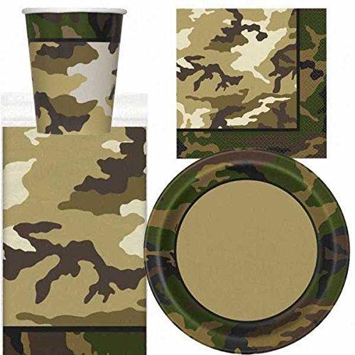 Camouflage Militaire couverts de fête lot pour 8