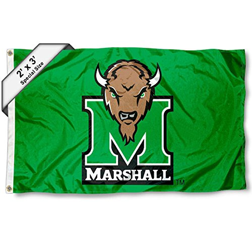 College Flags and Banners Co. Marshall Thundering Herd 2x3 Foot Flag - Marshall Thundering Herd Banner