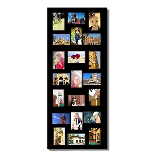 21 Opening Wooden Photo Collage Wall Hanging Picture Frame