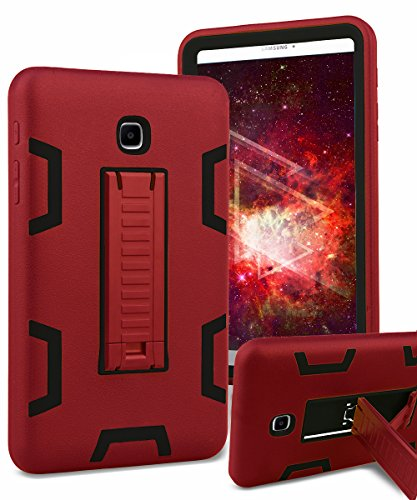 TIANLI Samsung Galaxy Tab A 8.0 Case Heavy Duty Protective Case with Portable Tablet Kickstand Cover for Samsung Galaxy Tab A 8.0 inch Tablet (SM-T350) Red Black