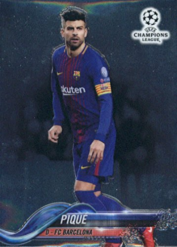 Soccer Pro 2018 Topps Chrome UEFA Champions League #60 - Pique Champion