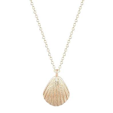 Amazon chuyun gold silver sea shell charm pendant necklace amazon chuyun gold silver sea shell charm pendant necklace ocean beach seashell jewelry gold jewelry aloadofball Gallery