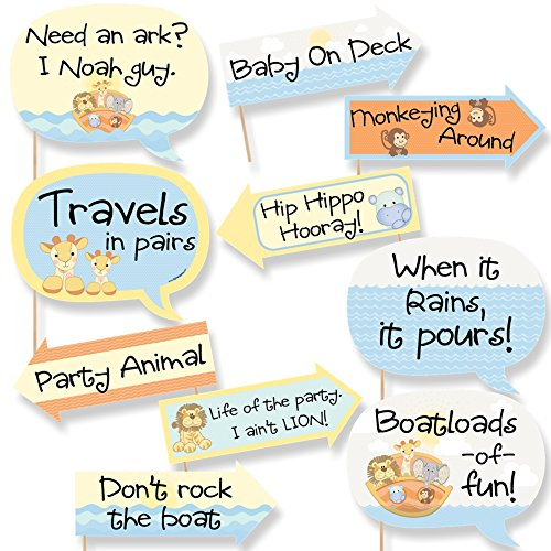 Funny Noah's Ark - Baby Shower Photo Booth Props Kit - 10 -