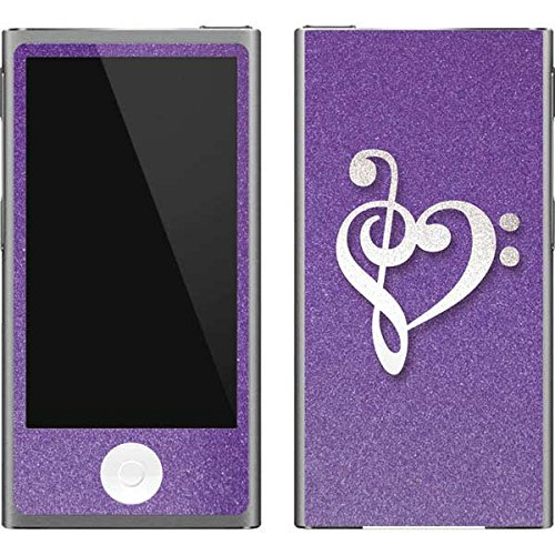 (Skinit Music iPod Nano (7th Gen&2012) Skin - Purple Glitter Musical Heart Design - Ultra Thin, Lightweight Vinyl Decal Protection)