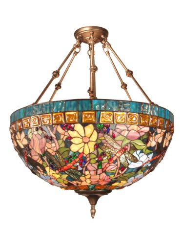 Charming Dale Tiffany TH60096 Tiffany Hanging Light Fixture, Antique Brass And Art  Glass Shade   Ceiling Pendant Fixtures   Amazon.com