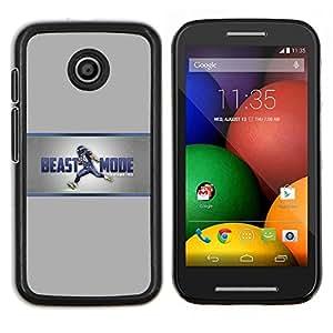 Stuss Case / Funda Carcasa protectora - Modo bestia - Motorola Moto E
