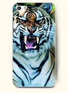 OOFIT phone case design with Tiger Howling for Apple iPhone 4 4s