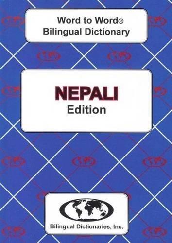 Nepali edition Word To Word Bilingual Dictionary PDF