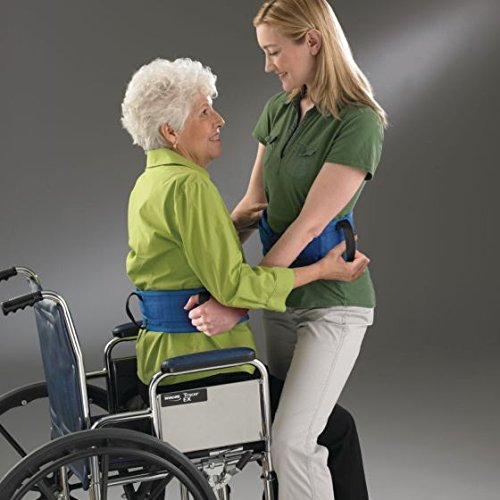 Sammons Preston Heavy-Duty Gait Belt with Handles, 30''-36'' Long Adjustable Safe Transfer Belt, Patient Lift Aid for Limited Mobility, Caregiver Assistance for Elderly & Handicapped, Size Medium by Sammons Preston