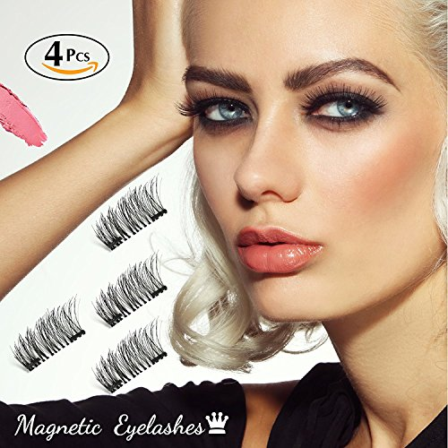 6db8a26a506 Magnetic Eyelashes Dual Magnet Glue-free 3D Reusable Full Size - Import It  All