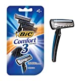 BIC Comfort 3 Disposable Shaver, Men, 4-Count (Pack of 4)