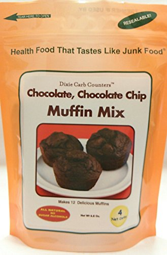 Dixie Carb Counters Chocolate, Chocolate Chip Muffin Mix - 6.8 (Dixie Low Carb)