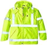 Carhartt Men's Big & Tall High Visibility Class 3 Waterproof Jacket,Brite Lime,XX-Large Tall