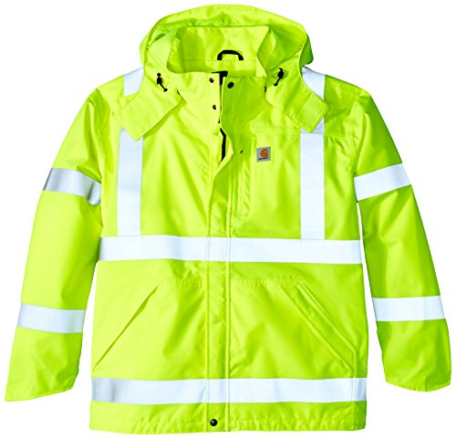 Carhartt Men's Big & Tall High Visibility Class 3 Waterproof Jacket,Brite Lime,XX-Large Tall