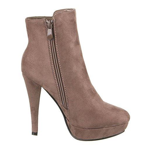 Ital-Design - Plataforma Mujer Marrón - marrón