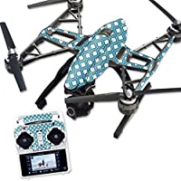 MightySkins Protective Vinyl Skin Decal for Yuneec Q500 & Q500+ Quadcopter Drone wrap cover sticker skins Trip Squares