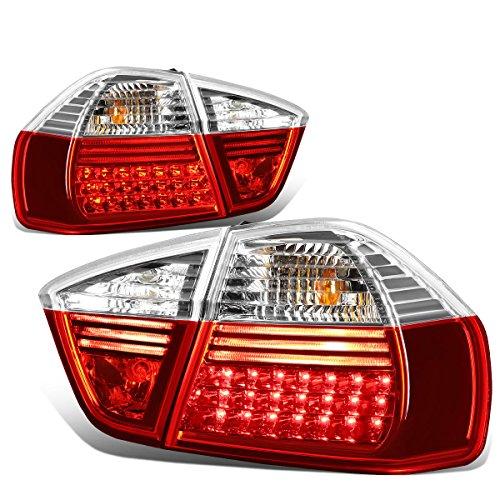 DNAMotoring TL-LED-E9005-RD-CL Tail Light Assembly, Drive...