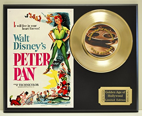 Peter Pan Limited Edition Gold 45 Record Display. Only 500 made. Limited quanities. FREE US SHIPPING