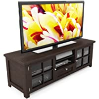 Sonax B-098-BAT Arbutus 63-Inch Wood Veneer TV Bench, Dark Espresso
