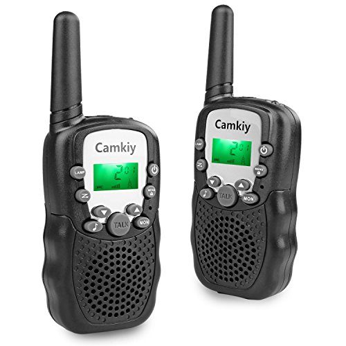 Handheld Outdoor Walkie Talkie 22 Channel FRS/GMRS 2 Way Radio 2 Miles (Up to 3 Miles) UHF (Pack of 2, Black)