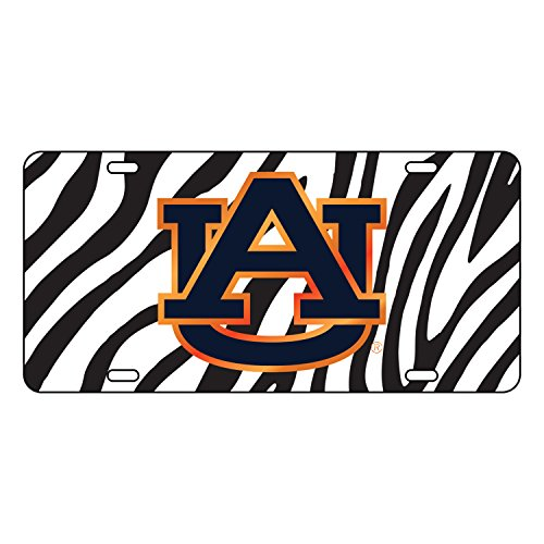 Wht Zebra - Auburn Tigers Tag LASER BLK/WHT ZEBRA AU TAG