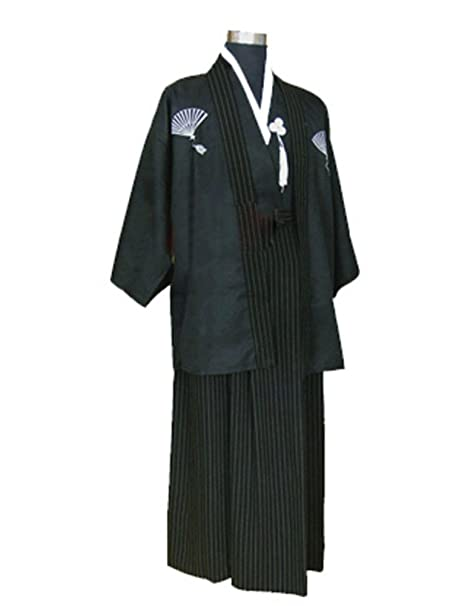 Amazon CRB Mens Boys Japanese Traditional Samurai Men Kimono Warrior Robe Outfit Costume Clothing