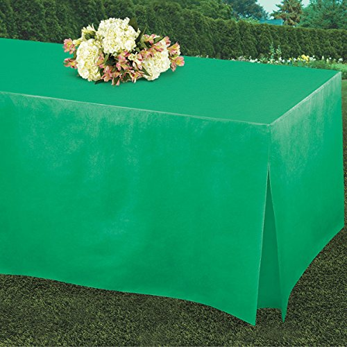 Amscan 579501.03 Table fitters Flannel-Backed Table Covers | Festive Green | 72