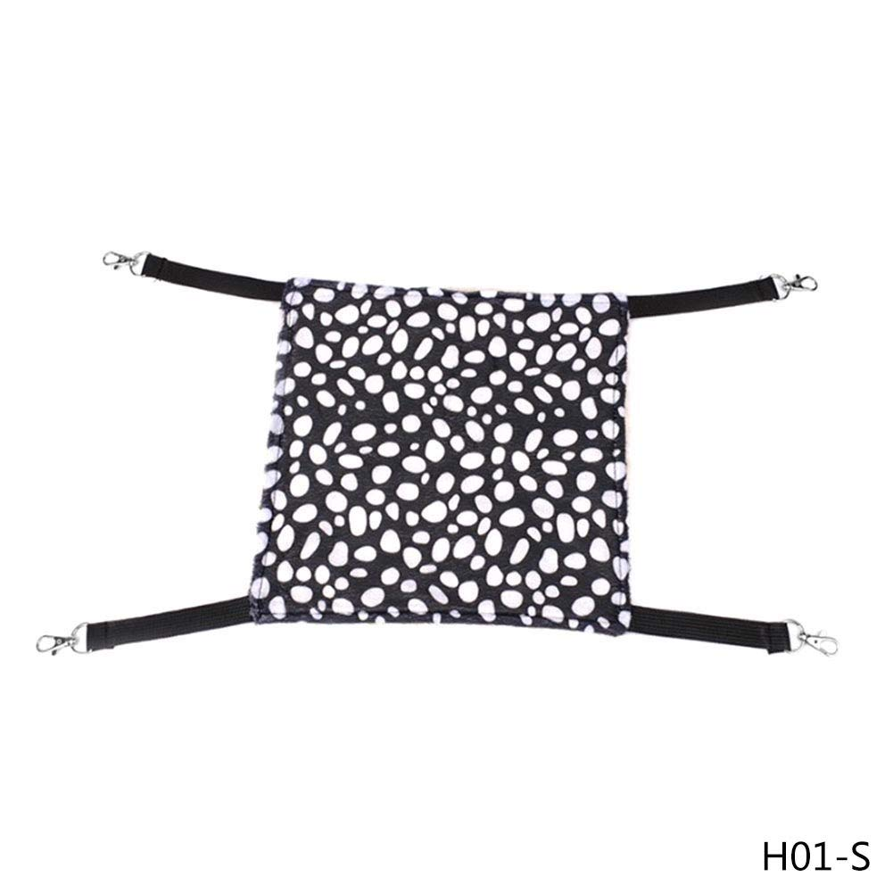 1 JLFAIRY 1 Pc Dot Polyester Rat Rabbit Cat Cage Hammock Small Pet Dog Puppy Bed Cover Bag Blankets Hanging Hammock Pet Supplies
