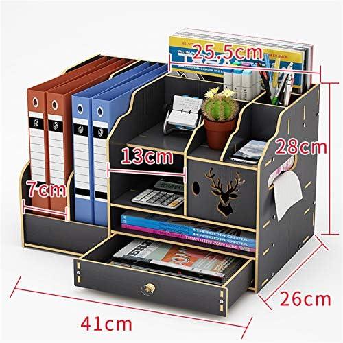 Kangsur Desktop Kosmetik Lagerschrank Büro Werkzeugkasten Hölzern DIY Multifunktional Aufbewahrungskiste H01-8