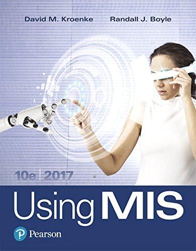 Using MIS (10th Edition)