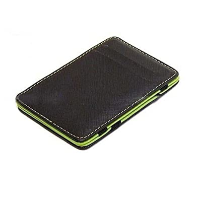 e0885b72d656 Cool Mens Fashion Faux Leather Magic Credit Card Id Money Clip Slim Wallet  Holder (Green): Amazon.co.uk: Shoes & Bags