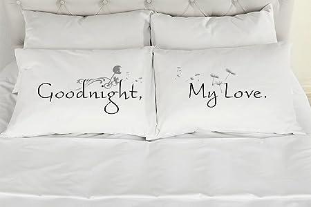303T Set von 2 StandardQueen Paare Kissen, Goodnight My