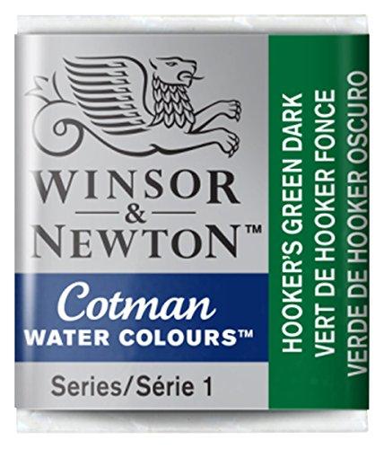 Winsor & Newton Cotman Watercolour Paint Half Pan – Hookers Green Dark 312