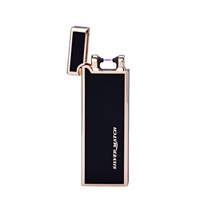 Silver Match Electronic Lighter USB Rechargeable, and
