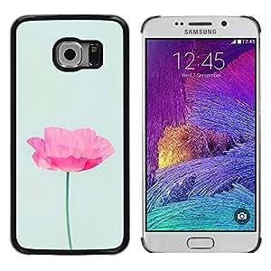 rígido protector delgado Shell Prima Delgada Casa Carcasa Funda Case Bandera Cover Armor para Samsung Galaxy S6 EDGE SM-G925 /Poppy Sun Flower Spring Nature/ STRONG