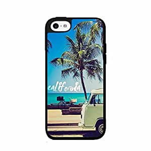 Palm Trees and California Dreaming 2-Piece Dual Layer Phone Case Back Cover iPhone 5 5s