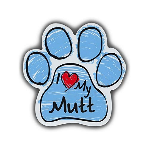 TiuKiu Bumper Stickers & Decals - I Love My Mutt (Mixed Breed) - 5.5 x 5