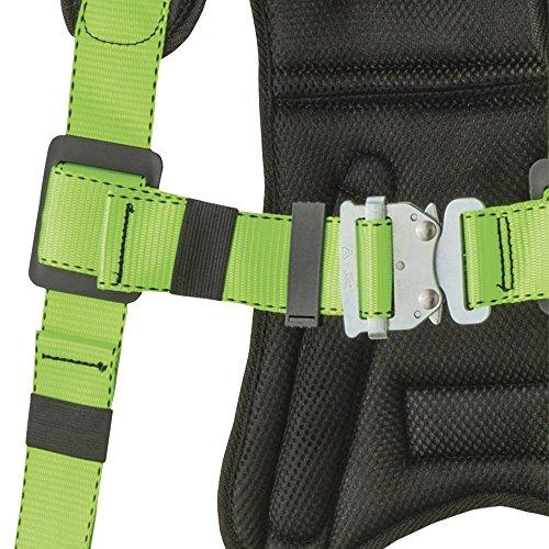 Peakworks V8006110 Peak Pro Series, Full Body Padded Safety Harness, Back D-Ring, (2) Side D-Rings, Stab Lock, Polyester, Universal, Green by Peakworks (Image #1)