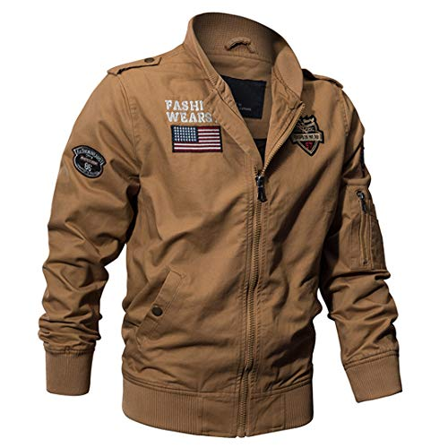 Militaire Tactique Manteau de Veste de l'armée Pilote Jackets Air Force Flight Cargo Coat 5